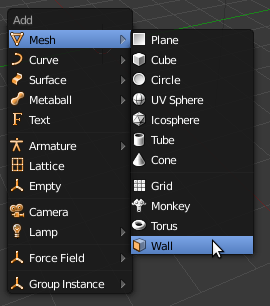 Solid Wall in Add mesh menu