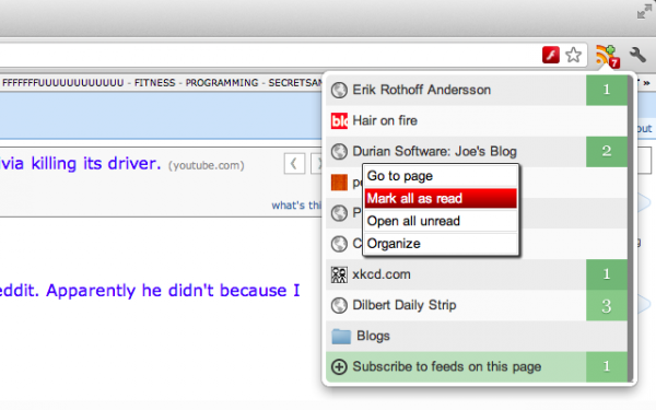 RSS Feed Reader for Chrome